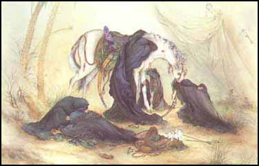 Women mourn the death of Imam Hussein